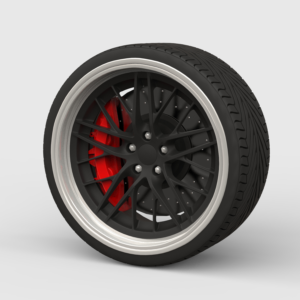 Disc with tyre ( диск с покрышкой) 3д модель