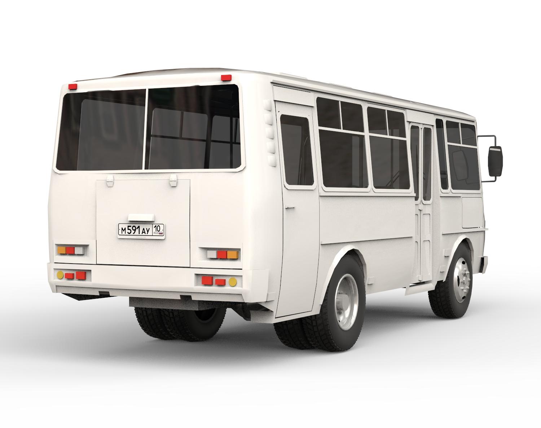 Автобус пазик скачать 3д модель