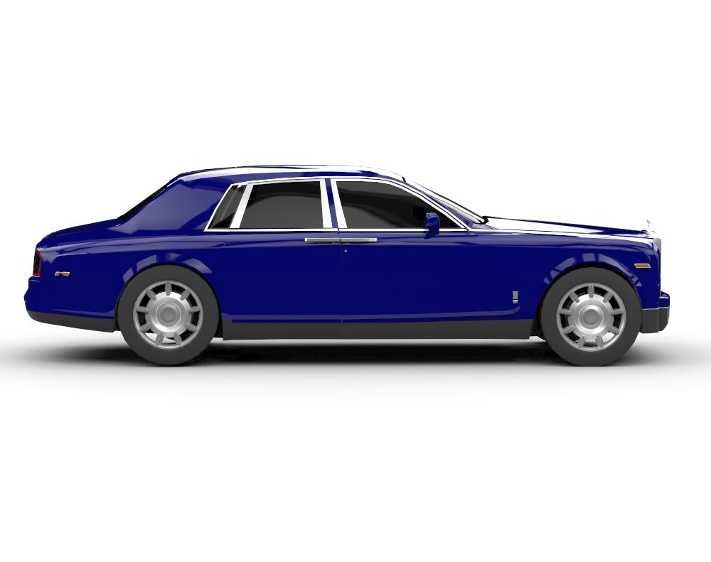 Rolls Royce Phantom 3D скачать бесплатно rendercar