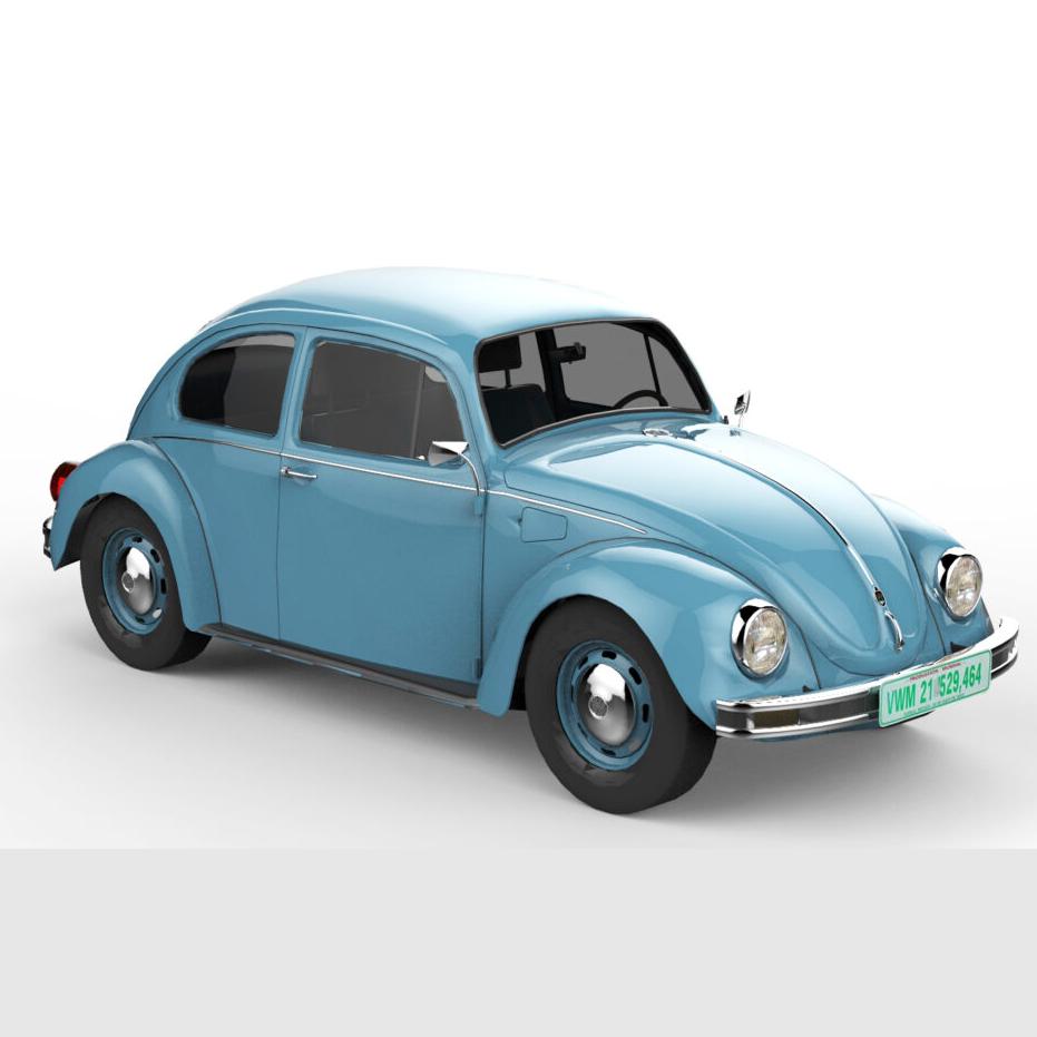 rendercar Volkswagen Жук седан 3D