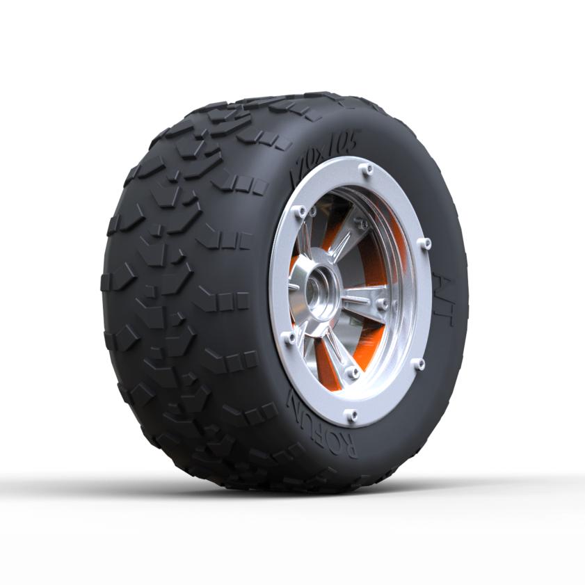 3d модель колеса внедорожника