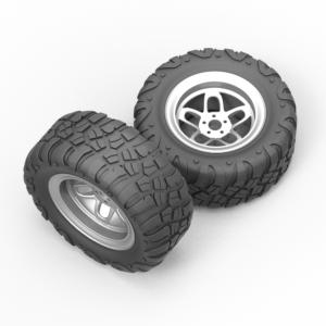 3Д модель колеса в сборе скачать