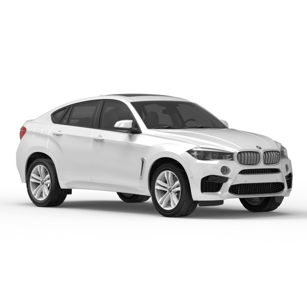 BMW x6 rendercar