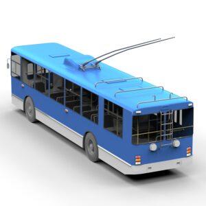 Троллейбус ЗИУ 9 3d модель