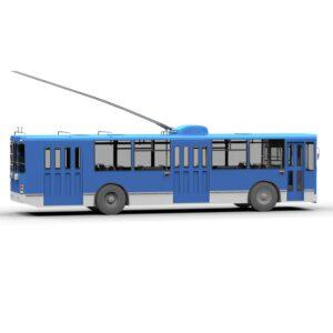 Троллейбус ЗИУ 9 3d модель rendercar