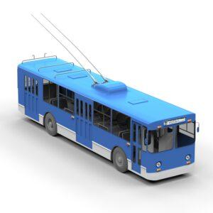 rendercar Троллейбус ЗИУ 9 3d модель