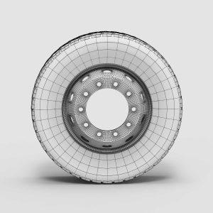 3d модель грузовика колеса