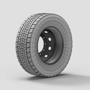 3d модель колеса каркас