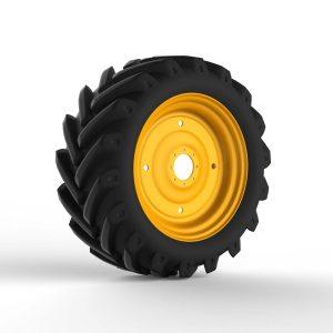 Колесо трактора с протектором 3D
