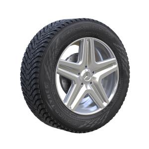 3D колесо с покрышкой Mercedes