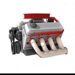 Двигатель V8 3D