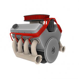 Модель двигателя V8 3D